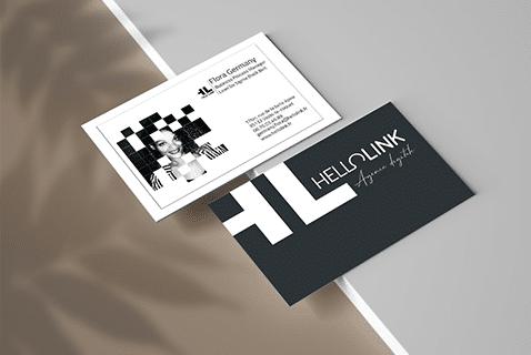 Hellolink agence communication digitale création carte de visite